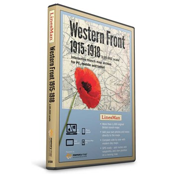 LinesMan Western Front - 1:20,000 Scale Map Set