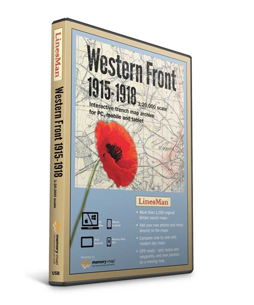 LinesMan Western Front-1:20,000 scale maps (GWD-LINE20-V2)