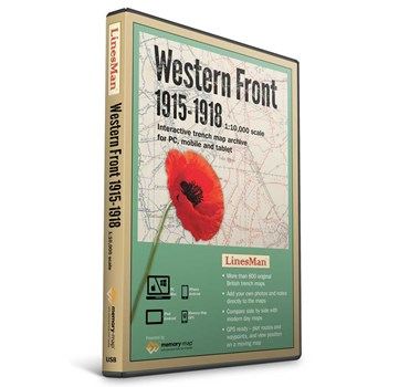 LinesMan Western Front-1:10,000 scale maps (GWD-LINE-V2)
